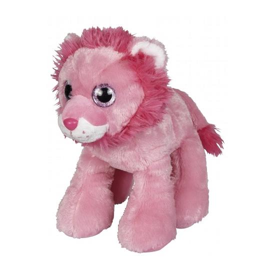 Roze leeuwen knuffel 22 cm