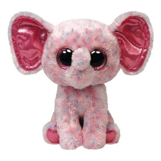 Roze Ty Beanie knuffel olifanten 24 cm