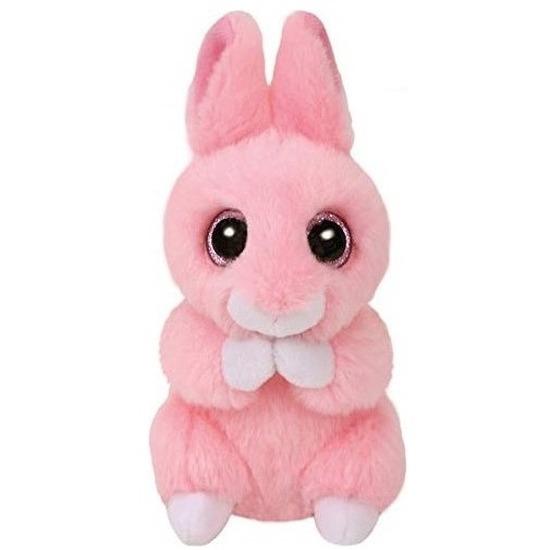 Roze Ty Beanie konijn/haas knuffels Jasper 10 cm knuffeldieren