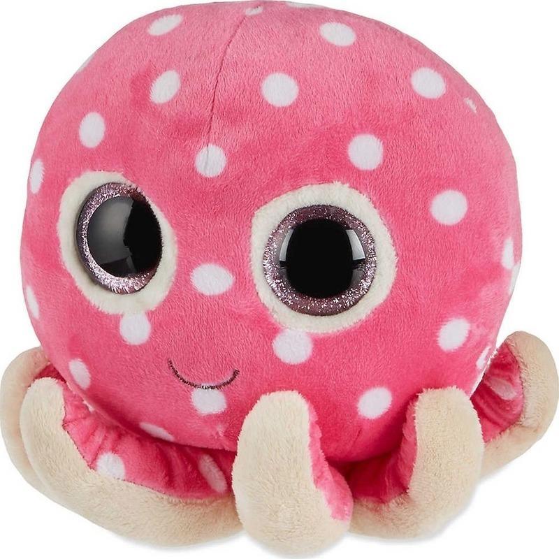Roze Ty Beanie octopus knuffels Ollie 24 cm knuffeldieren