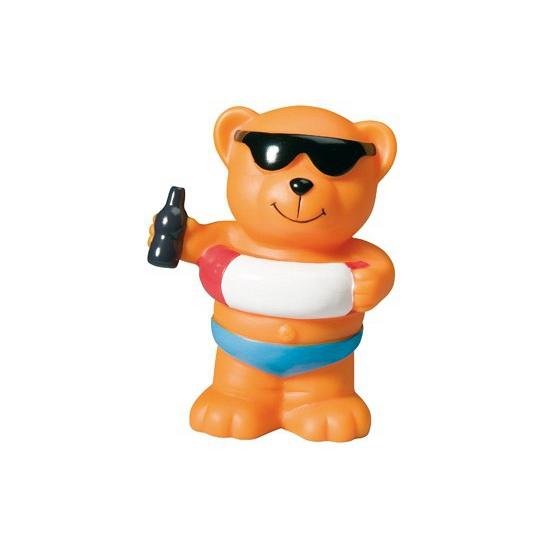 Rubberen beer met zwemband