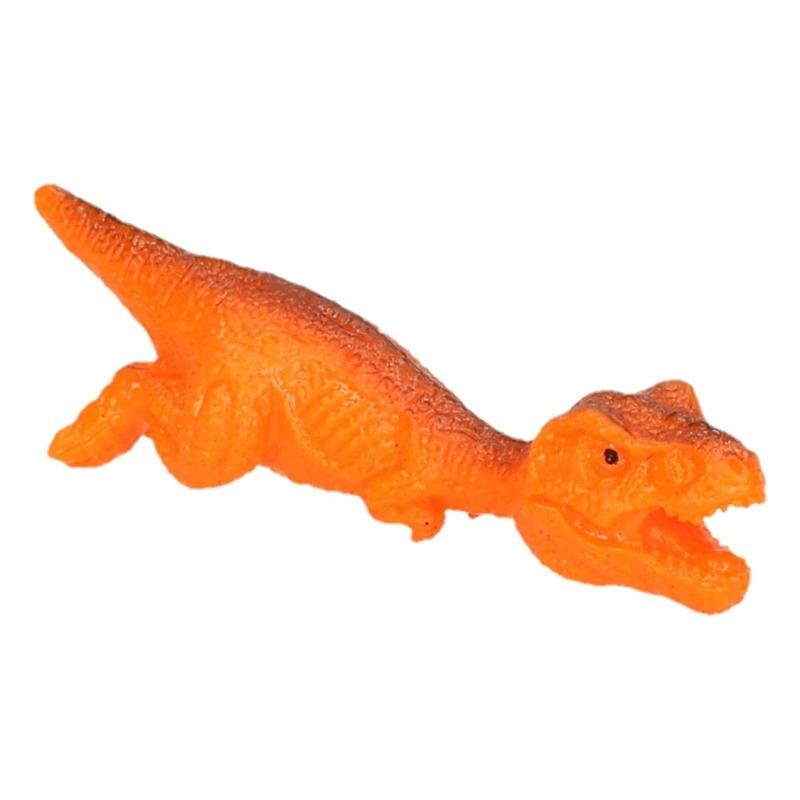 Rubberen speelgoed Dino World vingerspeelgoed poppetje T-rex