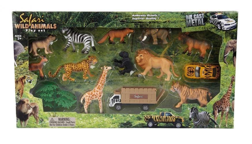 Safari of dierentuin speelgoed set voor kinderen