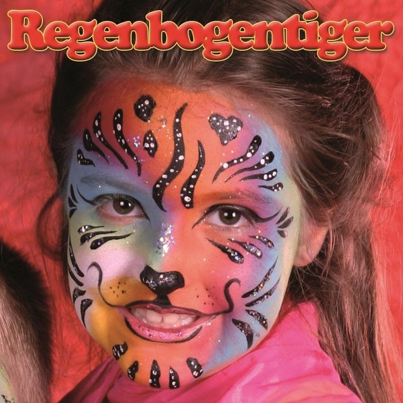 Schminksetje regenboog tijger voor kinderen