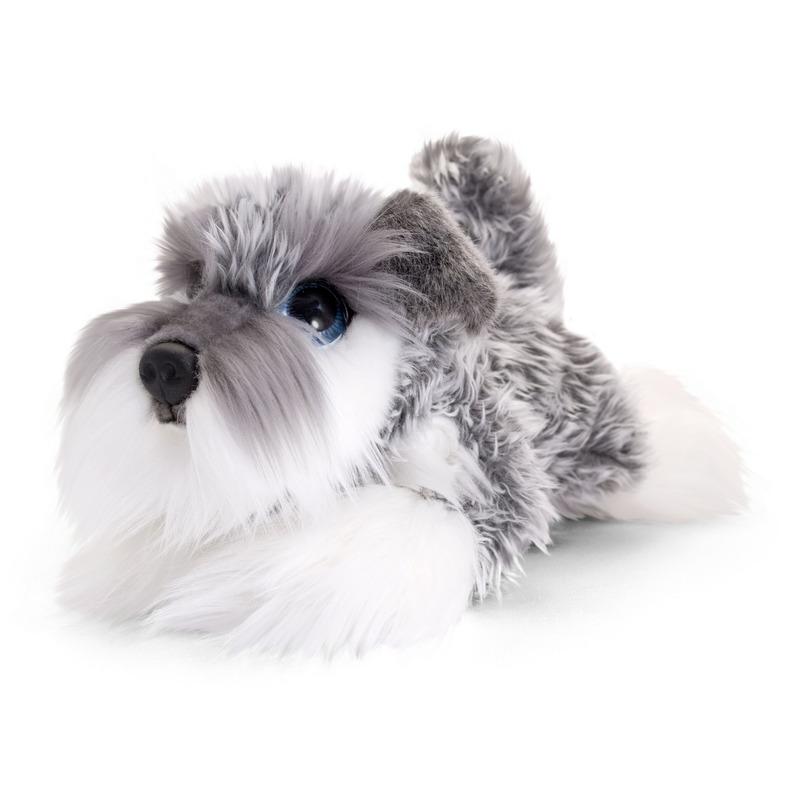 Schnauzer honden knuffeldier 25 cm