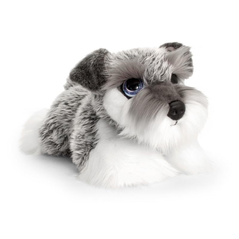 Schnauzer honden knuffeldier 32 cm