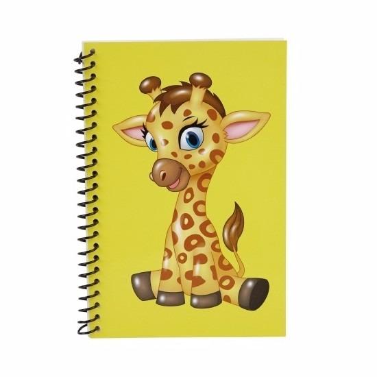 Schriftjes giraffen thema geel 18cm