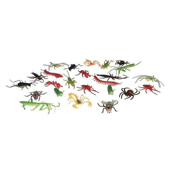 Set met mini insecten dieren figuren 24-delig