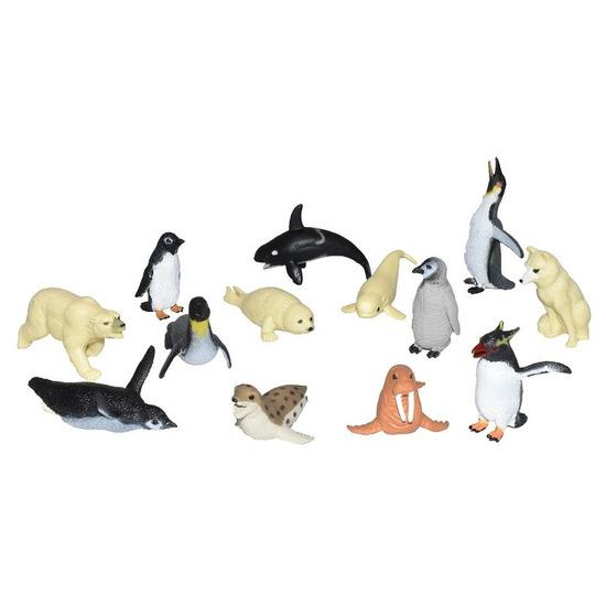 Set met mini pooldieren figuren speelset 13-delig