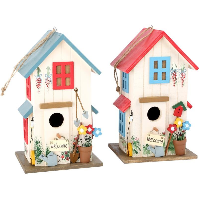 Set van 2 vogelhuisjes