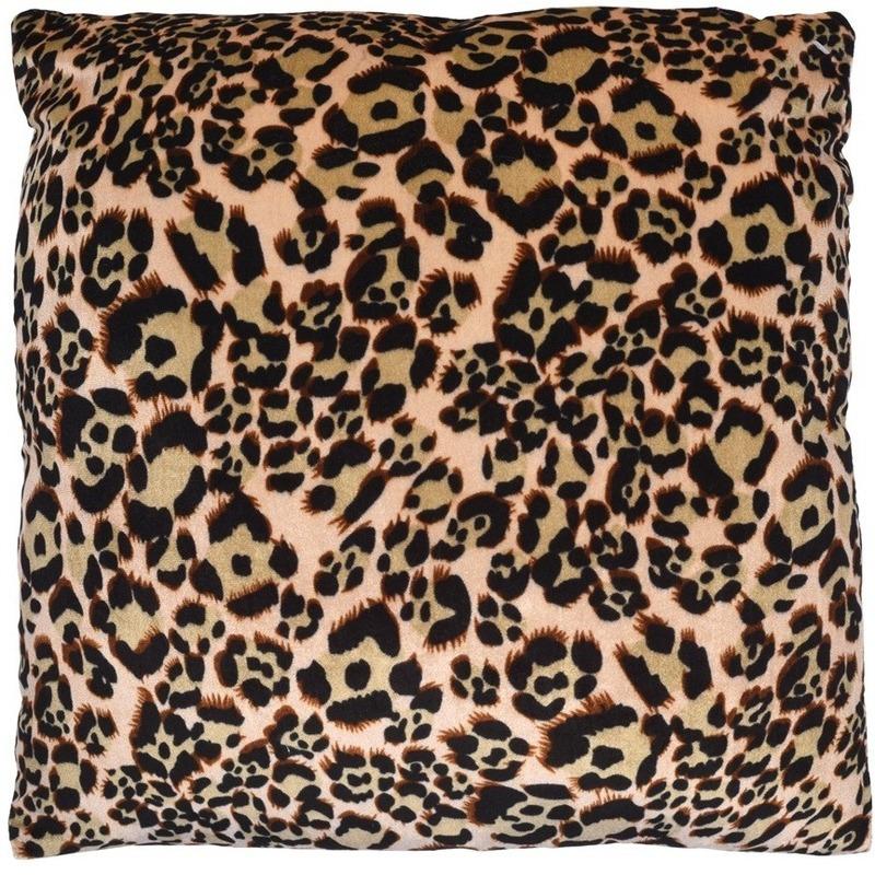 Sierkussentje met luipaard print 45 cm
