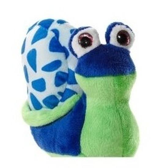 Slakken knuffeldier groen\blauw 16 cm