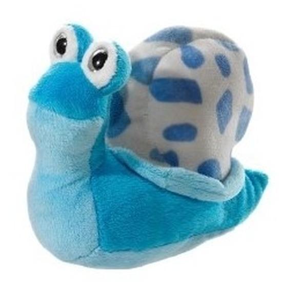 Slakken knuffeldier lichtblauw 16 cm