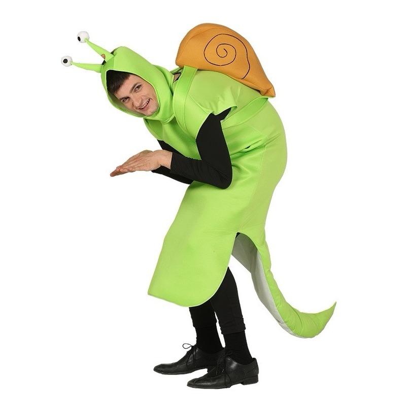 Slakken kostuum groen voor volwassenen