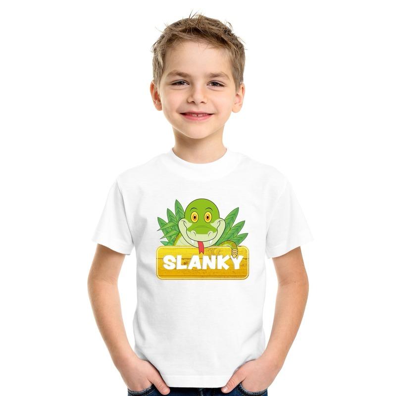 Slangen dieren t-shirt wit voor kinderen