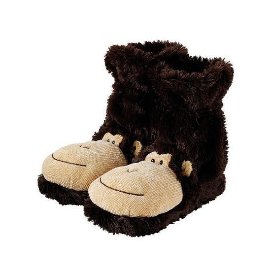 Afbeelding Slof sokken bruine aap door Animals Giftshop