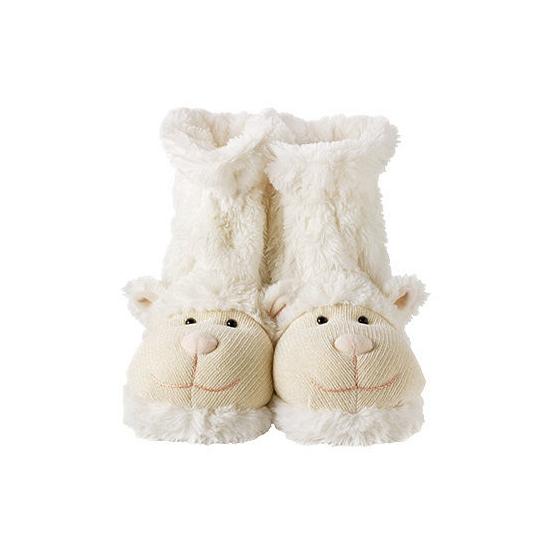 Slof sokken wit lammetje