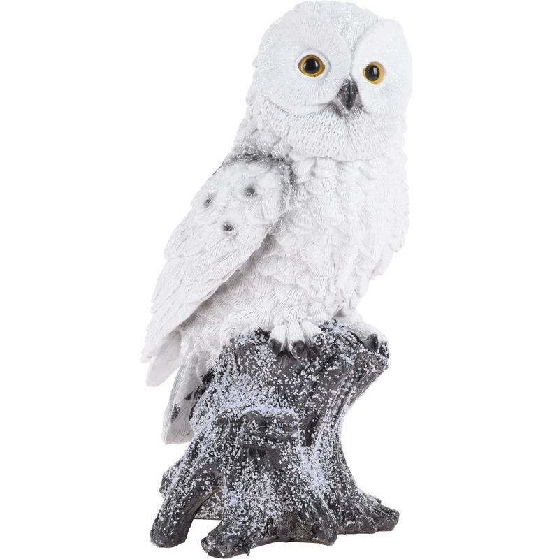 Sneeuwuil figuur kerst decoratiebeeldje 26 cm type 1