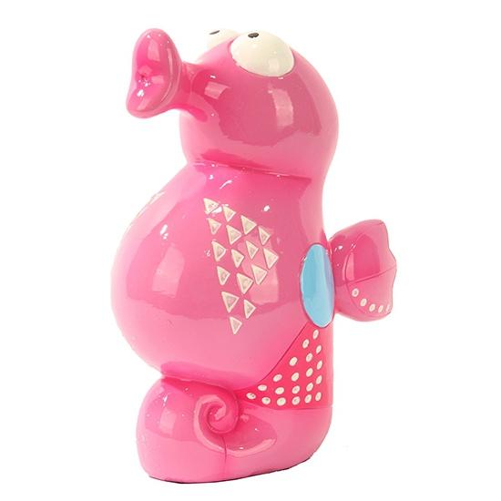 Spaartpot roze gekleurd zeepaardje