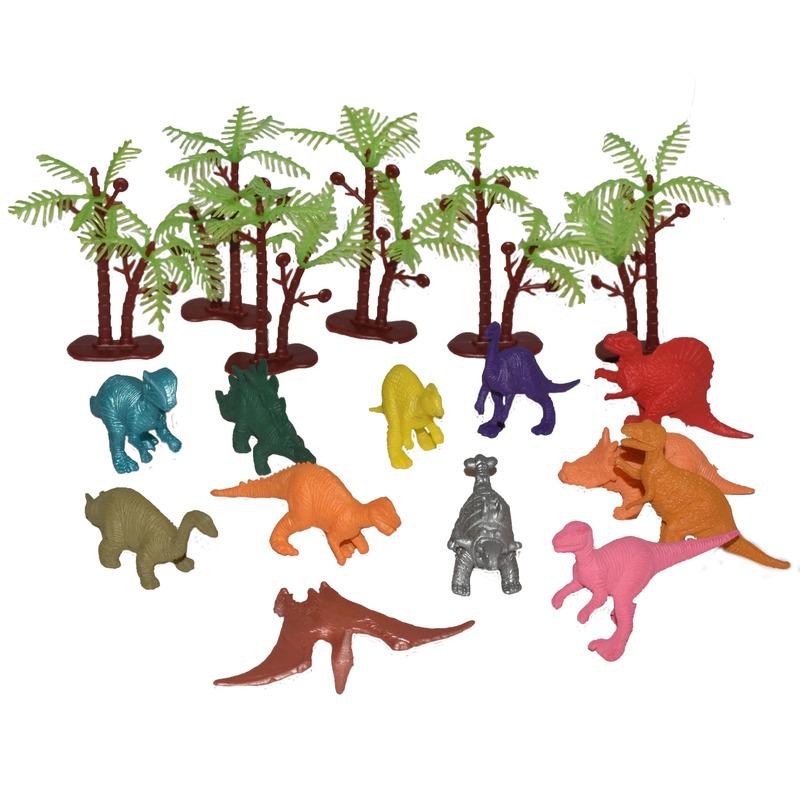 Speelemmer met mini figuurtjes dino's