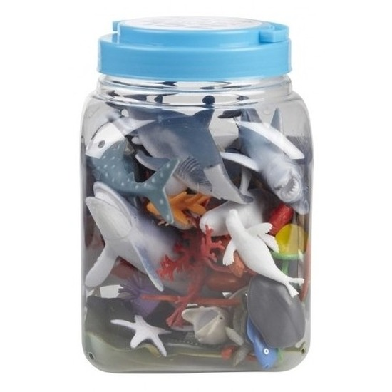 Speelemmer met mini figuurtjes oceaan dieren 40 delig