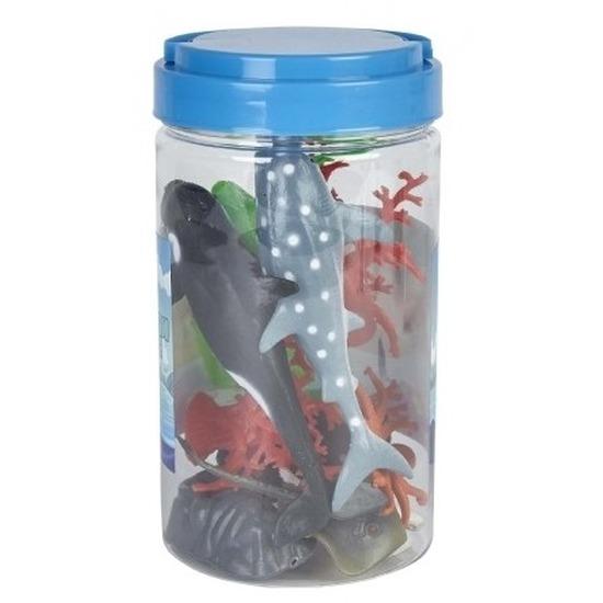 Speelemmer met mini figuurtjes oceaan dieren