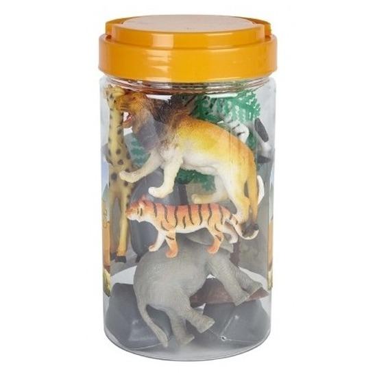 Speelemmer met mini figuurtjes wilde dieren