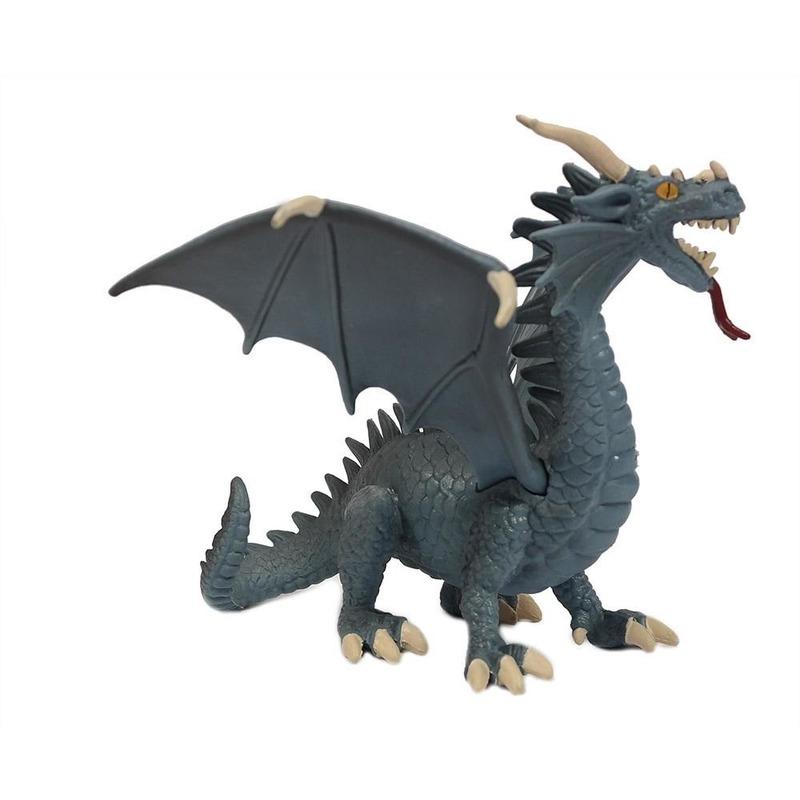 Speelfiguur draak blauw 21 cm
