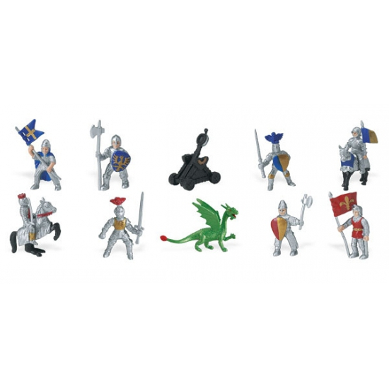 Speelfiguurtjes set ridders en draken