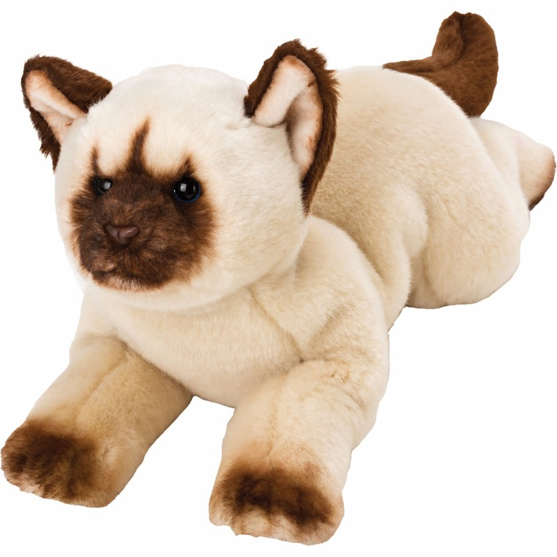 Speelgoed knuffel pluche Himalayan poes/kat 33 cm