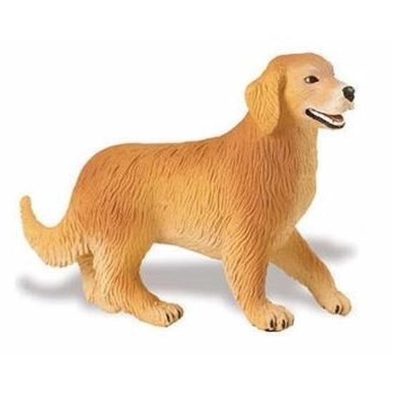 Speelgoed nep Golden Retriever hond 10 cm