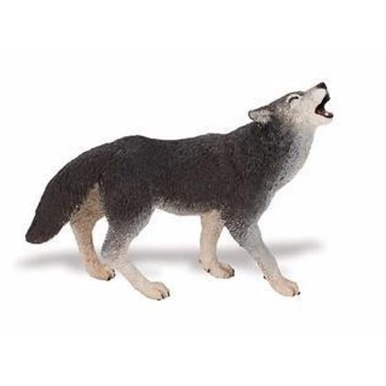 Speelgoed nep huilende wolf 9 cm
