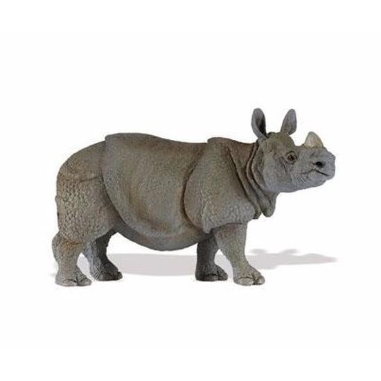 Speelgoed nep Indische neushoorn 12 cm
