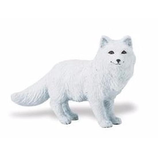 Speelgoed nep poolvos wit 8 cm