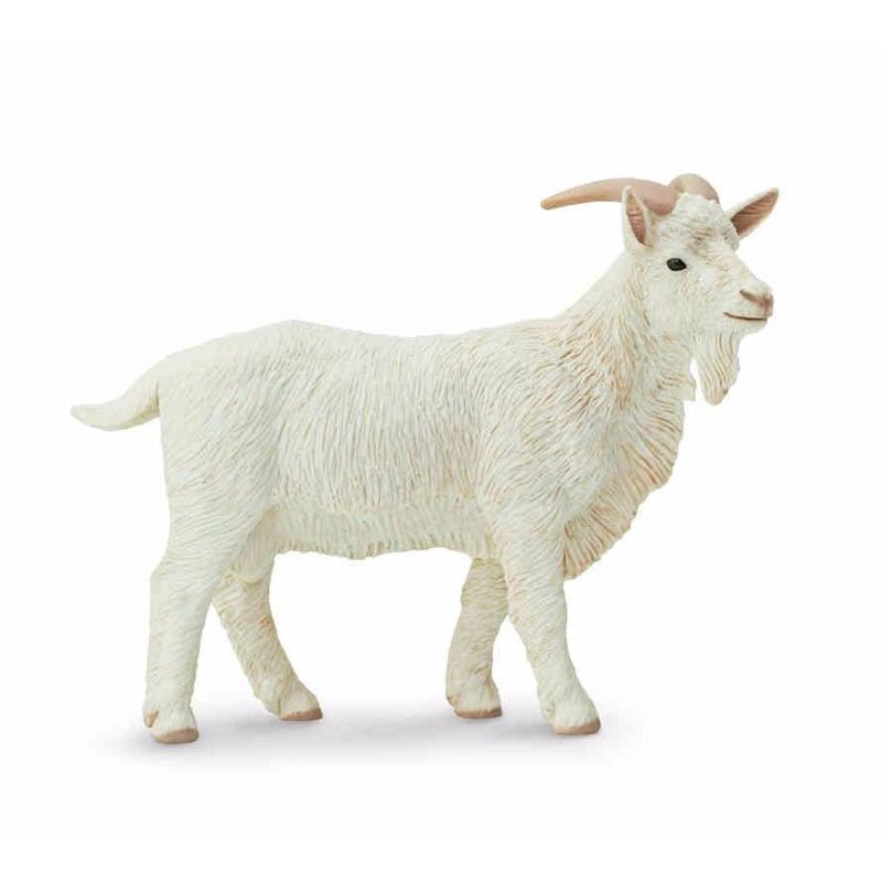 Speelgoed nep wit geiten bokje 9 cm