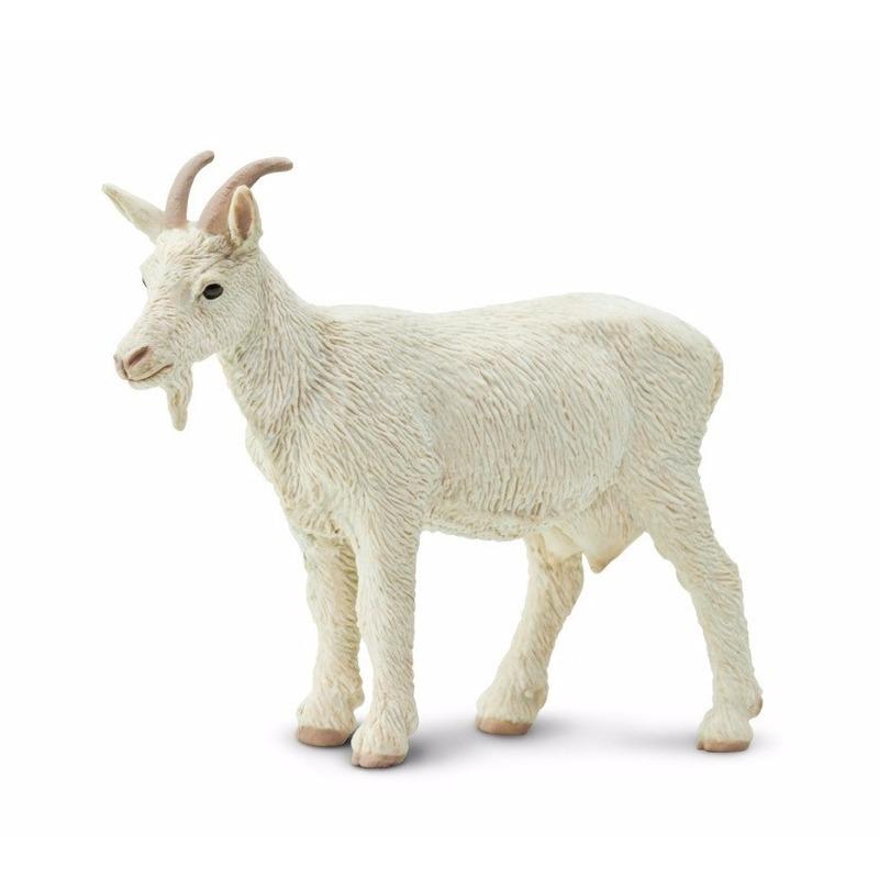 Speelgoed nep witte geit 8 cm