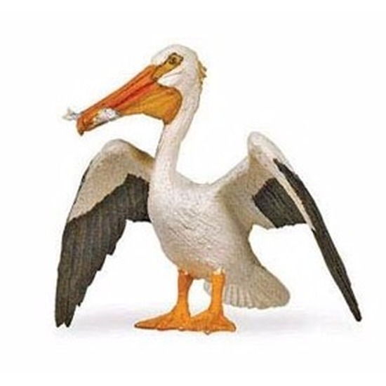 Speelgoed nep witte pelikaan 6 cm