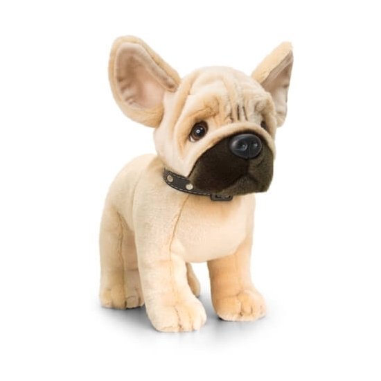 Staande pluche Franse Bulldog knuffeldier 40cm