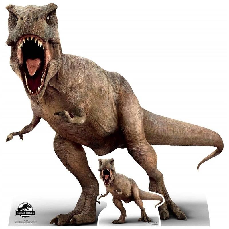Star cut-out foto bord Jurassic World T-Rex 100 x 98 cm