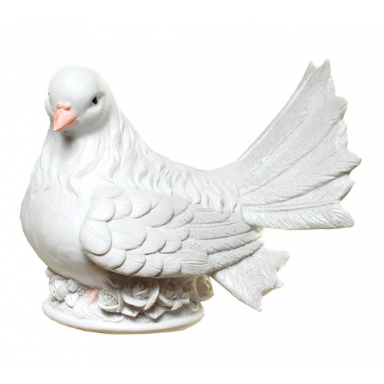 Stenen spaarpot witte duif