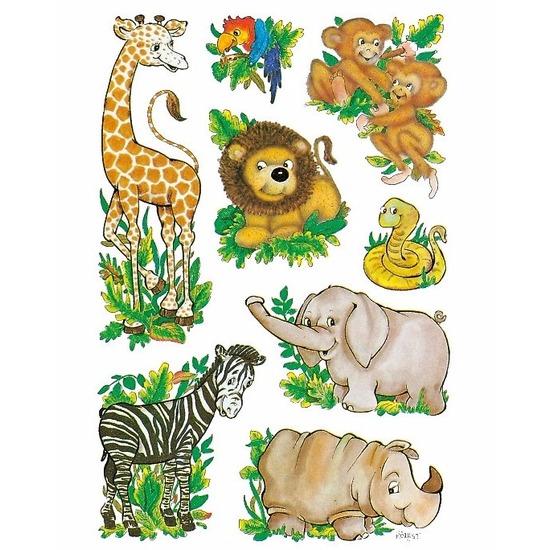 Stickers diverse dierentuin vriendjes 3 vellen