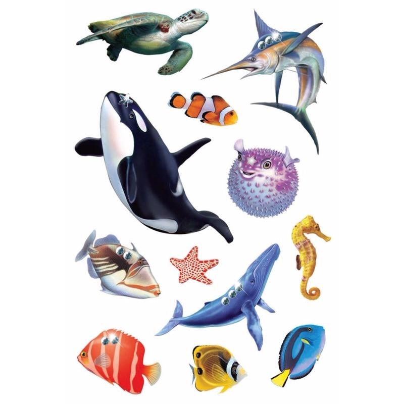 Stickers diverse oceaan dieren 1 vel