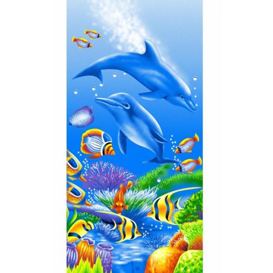 Strandlaken kind dolfijn 75 x 150