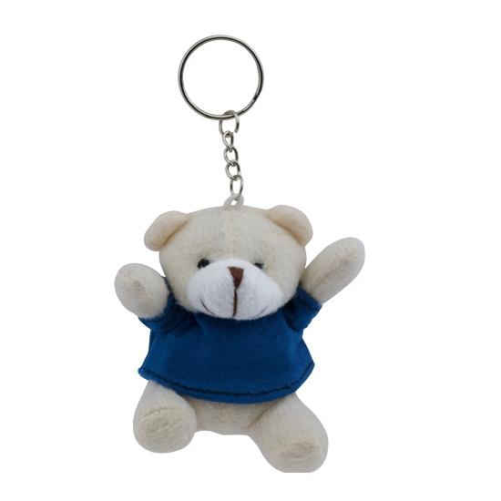 Teddybeer sleutelhangertje blauw
