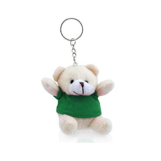 Teddybeer sleutelhangertje groen