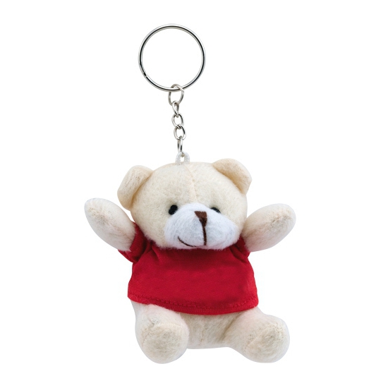 Teddybeer sleutelhangertje rood
