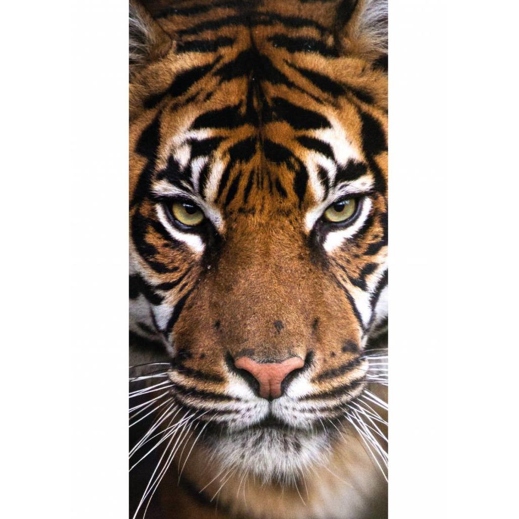 Afbeelding Tijger print badhanddoek 70 x 140 cm door Animals Giftshop