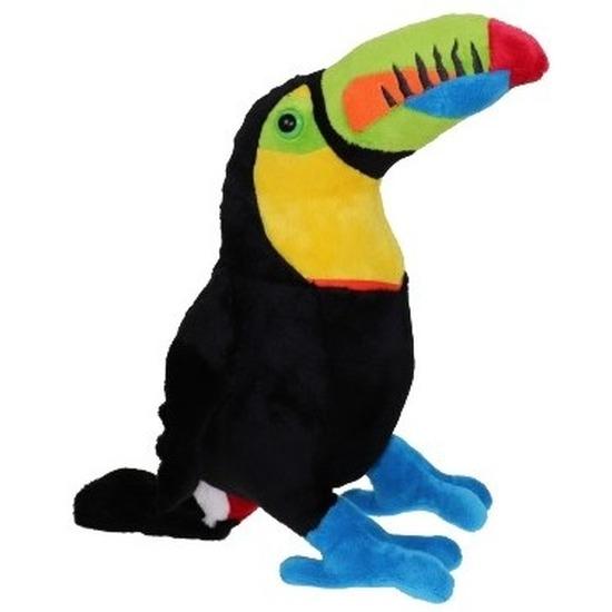 Toekan pluche vogel knuffeltje 37 cm