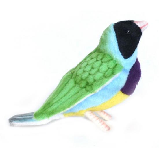Tropische vogel knuffel Gouldamadine
