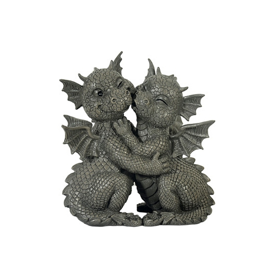 Tuin beeldje draken 26 cm